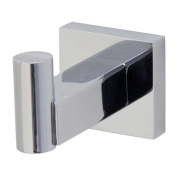 Angle Simple G2102 Stainless Steel Channel Single Robe Hook, Polished Steel