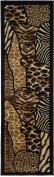 Animal Skin Prints Patchwork Leopard Zebra Rugs 4 Less Collection Runner Area Rug R4L 70