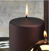 Zodax Holiday Satin Metallic Pillar Candle
