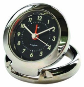 Bai Diecast Solid Metal Travel Alarm Clock, Futura Black