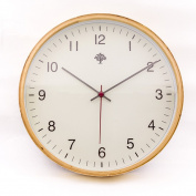 Hippih Silent Wall Clock Wood 20cm Non Ticking Digital