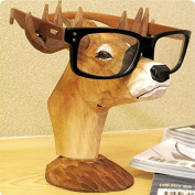 Best-mall Creative Wood Hand Carved Eyeglass Holder-Hold most style of eyewears-Great Gift For Anyone
