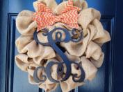 Monnogramed Burlap Wreath