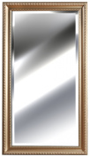 Gallery Solutions Ornate Champagne Bevelled Mirror, 60cm by 120cm
