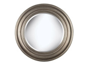 Kenroy Home Nob Hill Wall Mirror with Antique Silver Finish, 80cm Diameter
