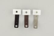 A & F Rod Decor - 10 Sliders for Decorative Traverse Rods - Satin Nickel