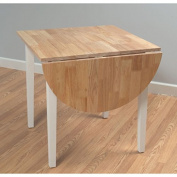Simple Living Country Cottage Rubberwood Crafted with Natural Wood and Paint Finished Dining Table