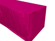 1.5m Fitted Polyester Table Cover Trade Show Booth Party Table Cloth Hot Pink