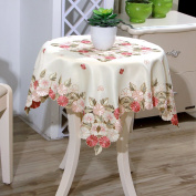 yazi Christmas Square Tablecloth Vintage Embroidered Flower Wedding Party Table Cover 80cm x 80cm