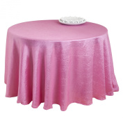 Pink Colour Special Occasion Crushed Tablecloth Liner, 340cm Round