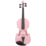 Le'Var 4/4 Student Violin Outfit, Pretty Pink