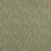 Designer Fabrics B631 140cm . Wide Light Green Traditional Paisley Jacquard Woven Upholstery Fabric