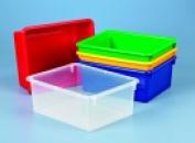 School Smart Deep Storage Tray - Clear