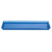 Trendware 179428 15cm x 39cm . Translucent Blue Rectangular Tray - Case of 6