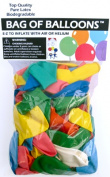 Balloons And Weights 6728 25cm . Assorted Colour Latex Balloons - 72 Piece Per Bag x 5 Bags