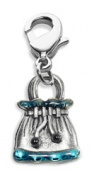 Whimsical Gifts 4216S Drawstring Purse Charm Dangle Silver