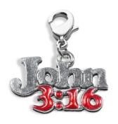 Whimsical Gifts 4240S John 3 - 16 Charm Dangle Silver