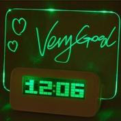 Denshine LED Digital Fluorescent Message Board Alarm Clock Temperature Calendar Timer 4 USB Port Hub Highlighter