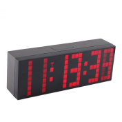 Denshine Lattice LED Digital Alarm / Countdown/up Clock with Remote