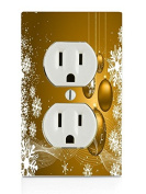 Christmas Gold Electrical Outlet Plate