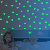 Amaonm® 69 Pcs Removable Vinyl Heart Shape DIY Glow in the Dark Wall Decals Luminous Light Fluorescent Wall Sticker Home Art Deocative for Nursery Room Children's Room Ceiling Ceiling Decoration