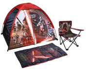Disney Star Wars Indoor/Outdoor Discovery Tent, Sleeping Bag and Chair with Carry Bag - 4 Piece Set