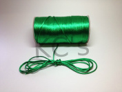 50 Yards - 2mm Emerald Green Satin Rattail Cord Chinese/china Knot Rat Tail Jewellery Braid 100% Polyester