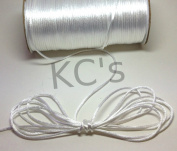 50 Yards - 2mm White Satin Rattail Cord Chinese/china Knot Rat Tail Jewellery Braid 100% Polyester