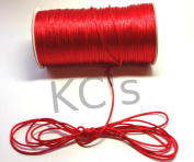 50 Yards - 2mm Red Satin Rattail Cord Chinese/china Knot Rat Tail Jewellery Braid 100% Polyester