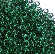 GREEN Anodized Aluminium Jump Rings 250 1/4 18g SAW CUT
