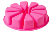 Moldiy Big Round Flexible Silicone Mould for Handmade DIY Soap Cake with 10 Triangle Shaped Cavity