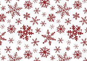 Bundleofbeauty Bj876a - Red & White Snowflakes Gift Wrap Packaging Tissue Paper 50cm X 80cm -24sheets