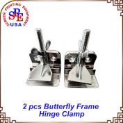2 pcs Butterfly Frame Hinge Clamp /DIY Tool Silk Screen Printing Hobby Printer Include Four Screws