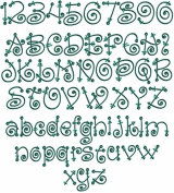 ABC Machine Embroidery Designs Set - Fairy Tale Alphabet Embroidery Designs 26 Upper-Case Letters, 10 Numerals and 26 Lower-Case Letters 4x4 Hoop - CD