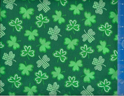 110cm Fabric, Shamrock St Patrick's Day, Fabric By the Yard