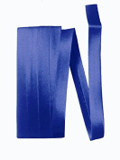 Bias Satin Tape ~ 1.3cm Wide Double-fold Bias Tape ~ Royal Blue ~ Poly Cotton (3 Yards / Pack) Set of 4