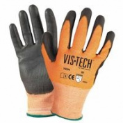 Wells Lamont 815-Y9294XL Cut-Resistant Gloves With Polyurethane Coated Palm Extra Large Orange & Black