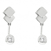 Luis Creations EA524 14K Gold Bezel Set Earrings With 0.15 Ct. Of Diamonds