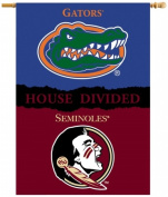 BSI Products 96904 Ncaa Florida State Seminoles 2-Sided Banner With Pole Sleeve House Divided