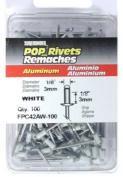 FPC FPC42AW-100 Surebonder 100 Pack Short White Aluminium Rivet