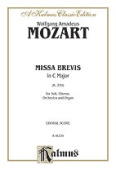Alfred 00-K06339 Mozart Missa Brevis K259 V Book