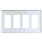 Cooper Wiring PJ264W 4-Gang Decorator & Gfci Plate - White