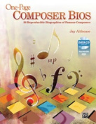 Alfred 00-40033 ONE PAGE COMPOSER BIOS-BK & DATA CD