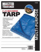 Master Tradesman MT 8 X 10 BLUE 2.4m x 3m Polyethylene Storage Tarp Cover - Blue