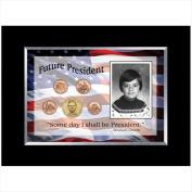 American Coin Treasures 11890 Future President 5 Coin Frame