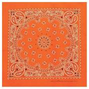 Neon Paisley Bandana - Orange