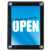 Deflect-O DEF899102 Double-Sided Window Display Sign 22cm . x 28cm . Clear