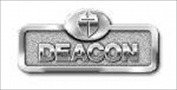 B & H Publishing Group 466055 Badge Deacon With Cross Magnetic Silver