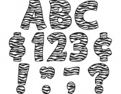 Teacher Created Resources 5375 Zebra Print Funtastic 4 Letters Uppercase Pack