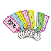 Steelmaster. 201400747 Replacement Tags for Multi-Colour Key Rack 2 1/4 Square Assorted Colours 4/PK